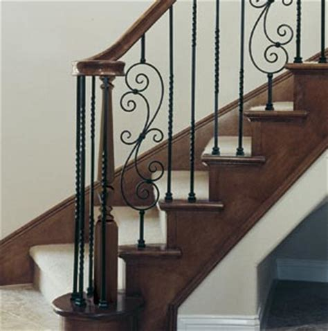 rod iron banister metal balusters for stairs and decks