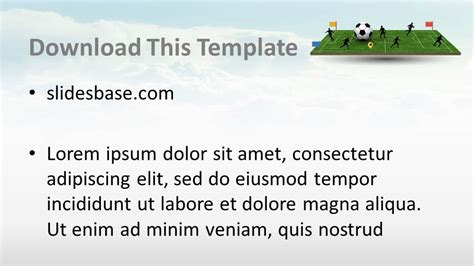 3d soccer pitch powerpoint template 3d soccer pitch powerpoint template slidesbase