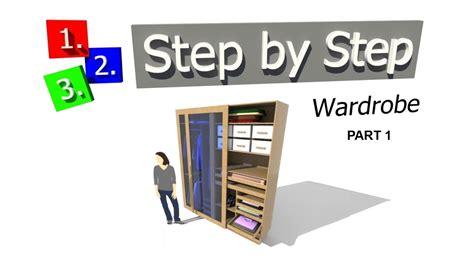 Google Sketchup Wardrobe Tutorial | sketchup tutorial modelling a wardrobe using