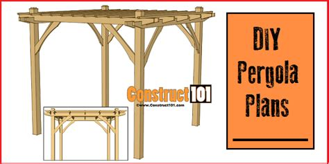 how to build a pergola pdf plans easy 10x10 pergola plans pdf construct101
