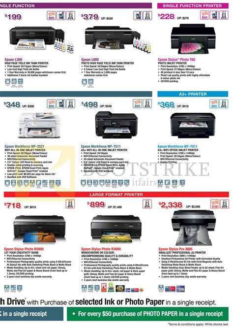 Printer Epson Stylus L300 Epson Printers Inkjet L300 L800 Stylus Photo T60 R2000