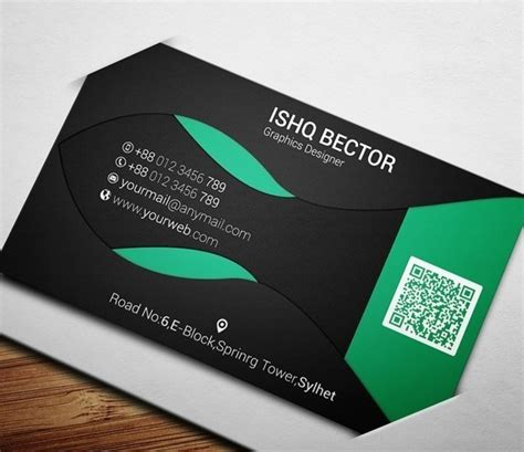 black business cards templates psd free black green eco business card template psd titanui