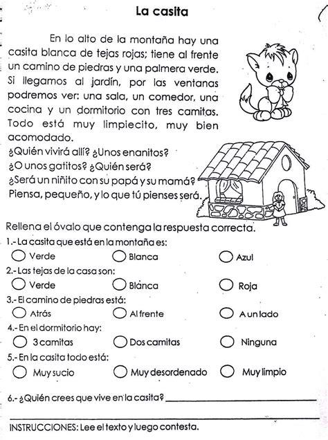 lectura para ninos de kinder en espanol comprension lectora
