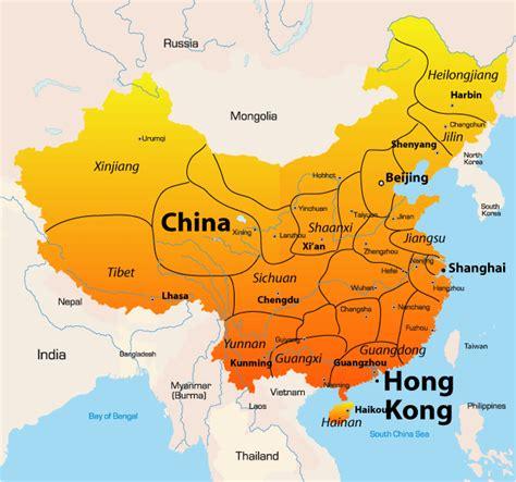 map of hong kong hong kong map showing attractions accommodation