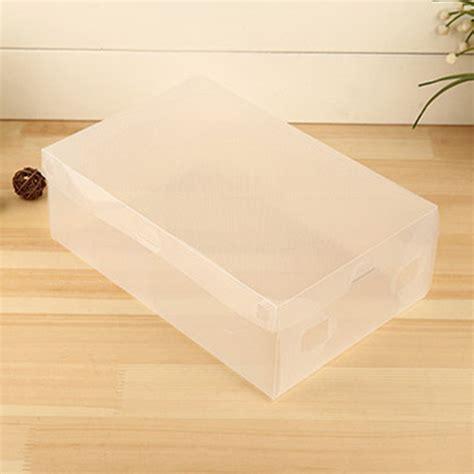Box Plastik X 10 10 x clear plastic shoe storage transparent stackable