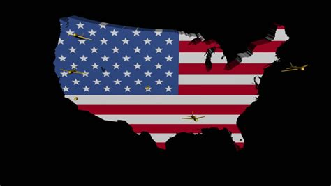 flags of the world x plane planes departing usa map flag illustration stock footage
