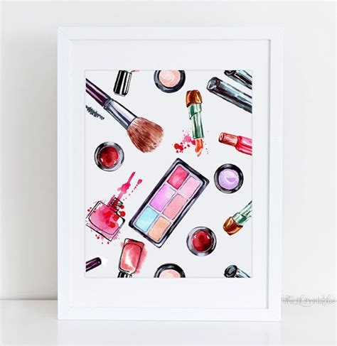 makeup wall art printable makeup printable cosmetic wall art beauty room by