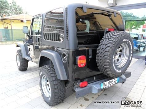 Jeep 4 0 L Horsepower 2002 Jeep Wrangler 4 0 Sport Cat Gas Car Photo And Specs