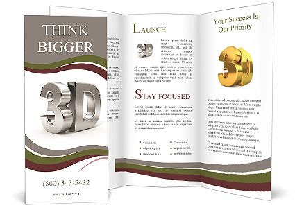 3d brochure template metallic 3d word brochure template design id 0000010854