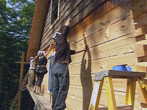 cleaning log home exterior how to treat and stain wood siding how tos diy