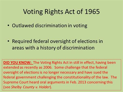 voting rights act of 1965 section 5 civil rights movement and political developments in the