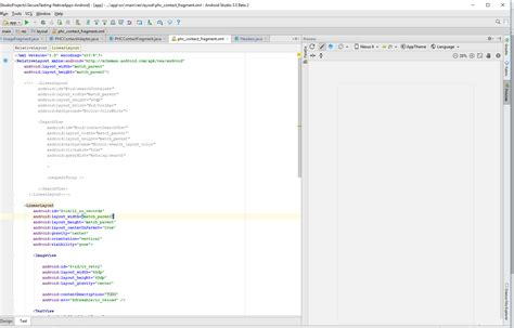 Xml Layout Preview | android studio beta 2 not showing xml layout preview