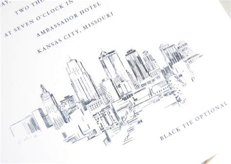 Wedding Invitations Kansas City by Kansas City Skyline Wedding Invitations