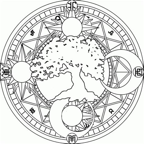 9 Pics Of Sun And Moon Mandala Coloring Pages Moon And Sun Moon Mandala Coloring