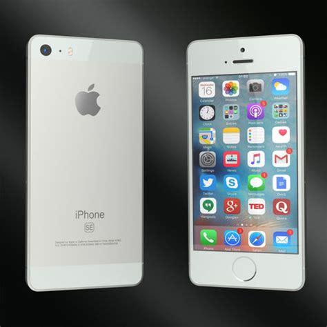 3d model phones apple iphone se cgtrader