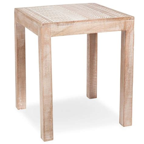 Wooden Table L Kakongo Wooden Side Table L 35 Cm Maisons Du Monde