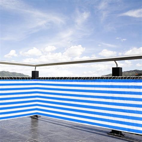 "236""x29"" Balcony Wind Sun Shield Shade Privacy Fence"