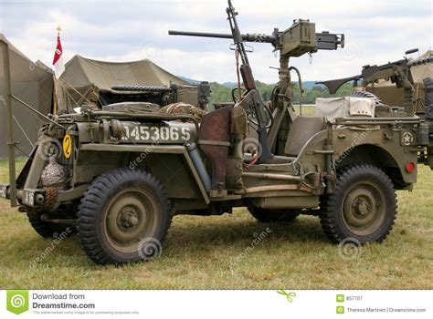 military jeep with gun wwii jeep stock image image of jeep reenactment