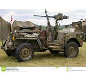WWII Jeep Stock Image Of Reenactment