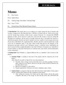 memo report template best photos of informal report format informal report