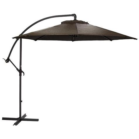 10 Ft Patio Umbrella Home Decorators Collection 10 Ft Cantilever Patio Umbrella In Mocha With Black Frame 6249610430