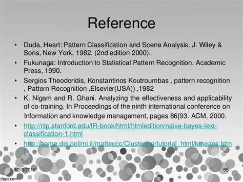 pattern classification and scene analysis bibtex seminar pattern recognition