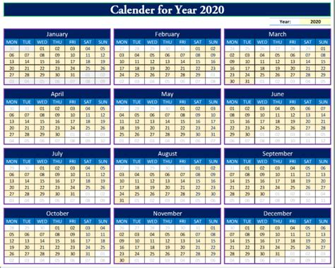 fully dynamic calendar    excel