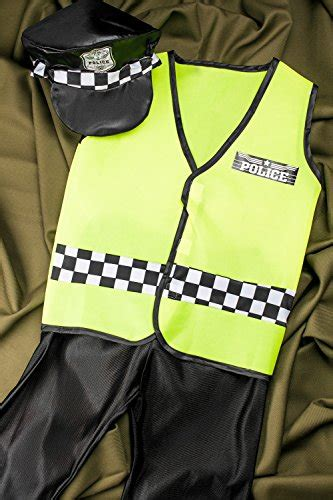 Kid Vest Abu Rdr boys policeman costume cop bobby dress up play 8 11 years green