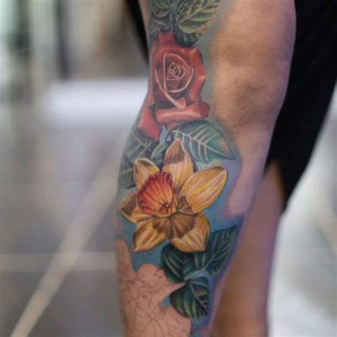 open rose tattoo daffodil tattoos designs and meaning flowertattooideas