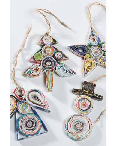 recycled paper christmas decorations gifts decorations