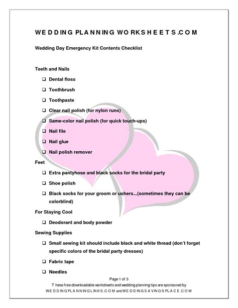 printable wedding planning workbook worksheets wedding worksheets opossumsoft worksheets and