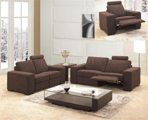 modern recliner couch microfiber fabric modern 3pc living room set 0918 brown