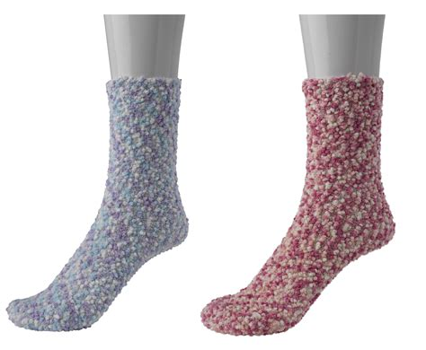 Bed Socks by 2 Pairs Pastel Spots Dots Bed Socks Slenderella