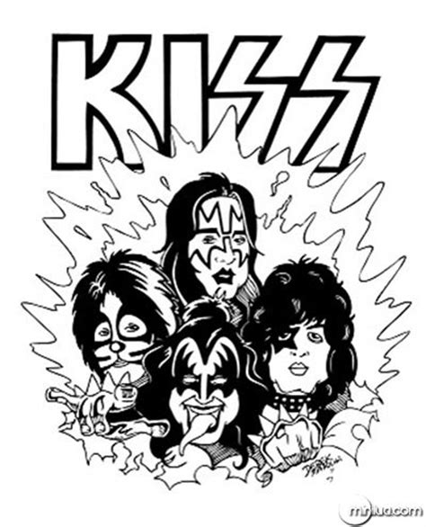 kiss band coloring coloring pages