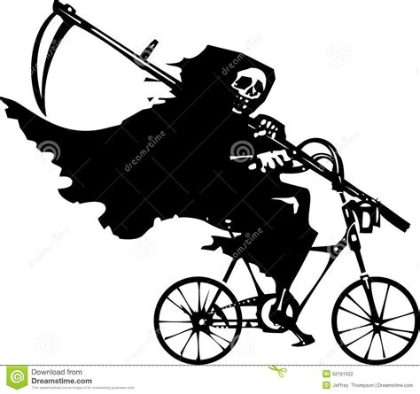 on a bike grim reaper on a bicycle stock vector image of bike 52161022