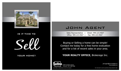 real estate postcard templates free printforlesscanada sutton colour