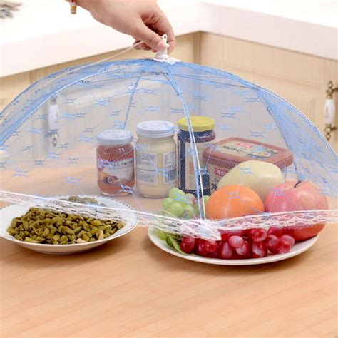 Mesh Food Cover food covers umbrella style anti fly mosquito kitchen