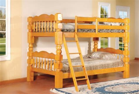King S Brand B127c Wood Convertible Bunk Bed Twin Cherry Bunk Bed Brands