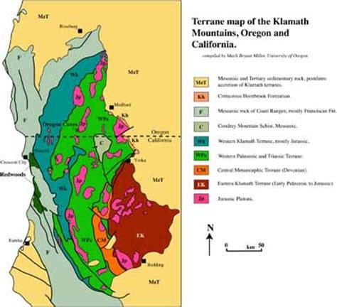 map of oregon redwoods geologic maps national parks