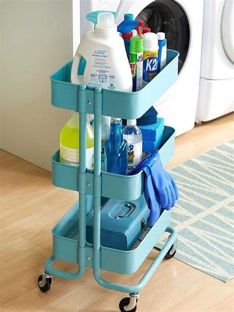 ikea use picture of ikea raskog to store cleaning supplies