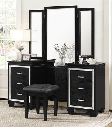 Vanity Set Furniture 3 Homelegance Allura Vanity Set