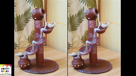 newspaper craft idea diy newspaper waterfall showpiece