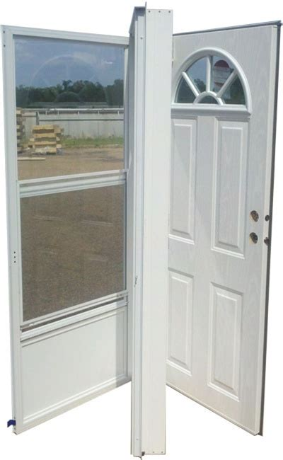 exterior mobile home doors 36x80 steel door fan window lh for mobile home