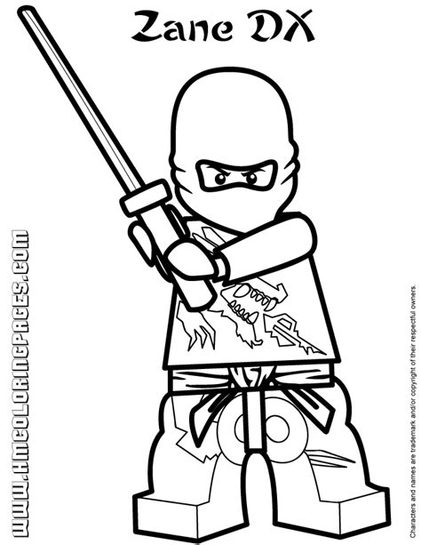 lego ninjago coloring pages kai dx lego ninjago zane dx coloring page h m coloring pages