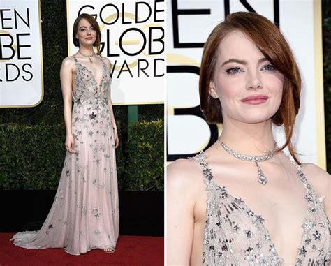 emma stone golden globes 2017 golden globe awards 2017 red carpet fashion fashionisers