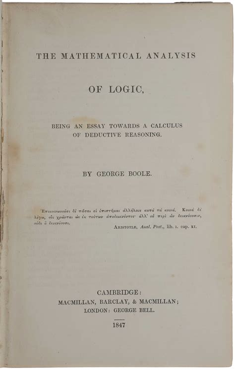 s moral nature an essay classic reprint books the mathematical analysis of logic being an essay towards
