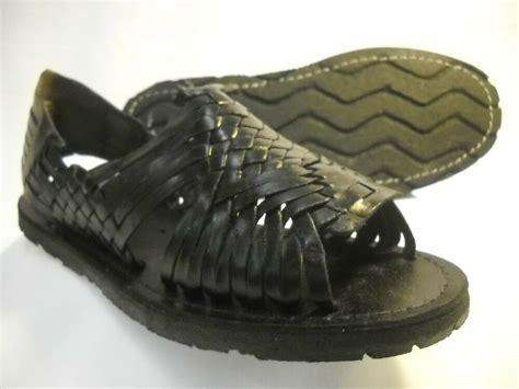 womens leather mexican sandal color black huarache ladies wtire sole  sizes ebay