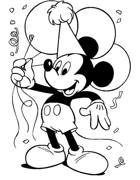 imagenes para cumpleaños blanco y negro pinto dibujos mickey mouse cumplea 241 os para colorear