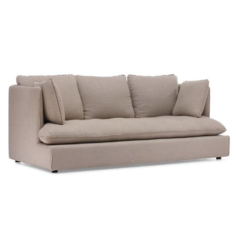 lowes sofa shop zuo modern pacific heights beige linen sofa at lowes com