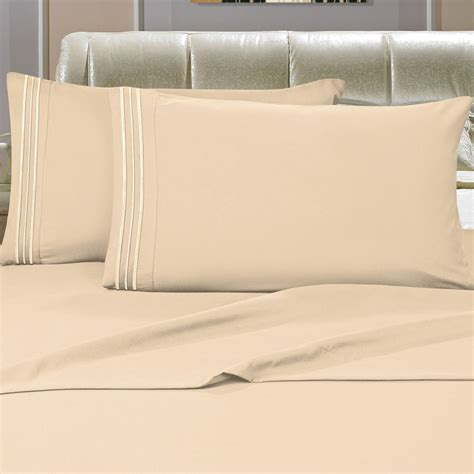 california king bed sheets elegant comfort 3 piece california king bed sheet set in cream